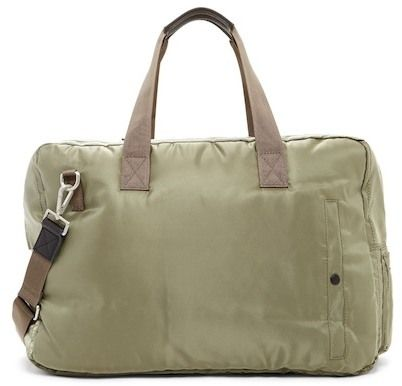 AllSaints Chamber Cow Leather Trim Holdall Bag