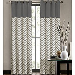 Chevron window coverings...would be pretty in the front room, in brown.