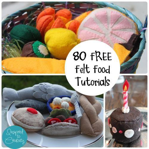 80 Free Felt Food Tutorials