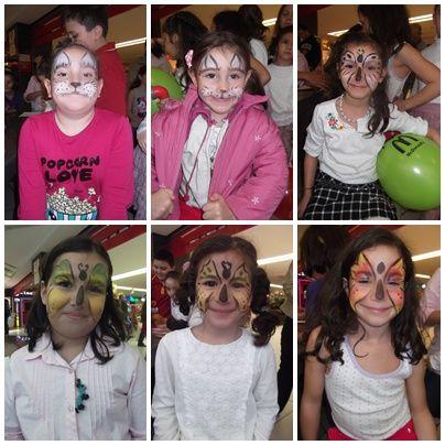 #Çocukların #Hayvan #karakterleri #ile #birleşen #dünyaları #kelebekler #tavşanlar #simanimasyon #yüzboyaması #yüzleri #renklendiriyor