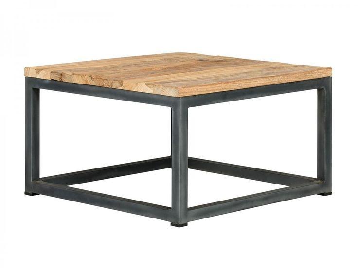 Couchtisch 60x60 Rustikal Tisch Metall Eisen Mbel Teak Wohnzimmertisch Manchu