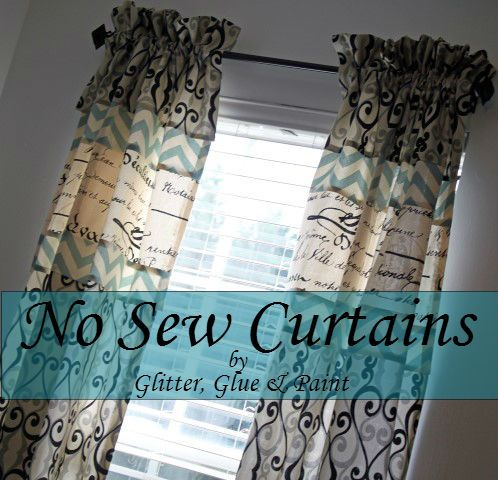 French no-sew curtains