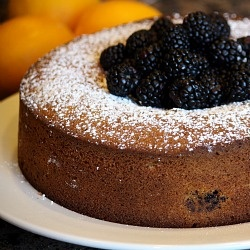 lemon and blackberry cornmeal cake | Baking | Pinterest