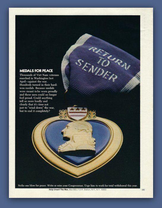 Viet Nam Veterans Return Purple Heart medals by catchingcanaries