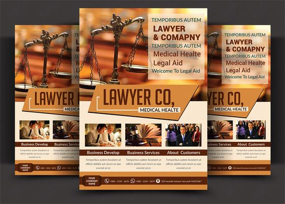 Lawyer Firm Business Flyer Template @creativework247