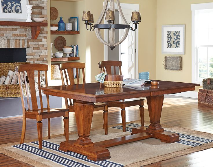 The Fulton Trestle Table Is Custom Built By Fine Amish Furniture Craftsmen  And Offered By Weaver Furniture Sales A Northern Indiana Furniture Company.
