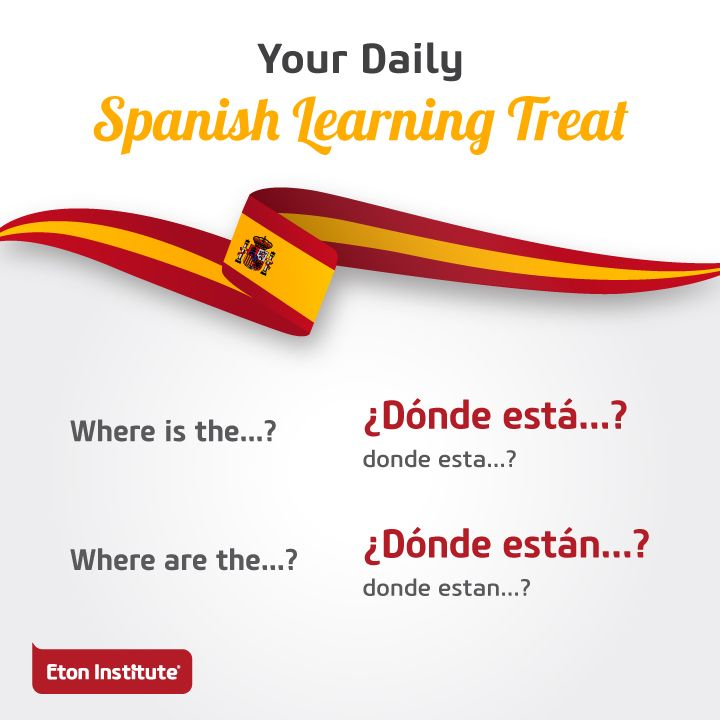 Where is today's Spanish lesson? Here it is!