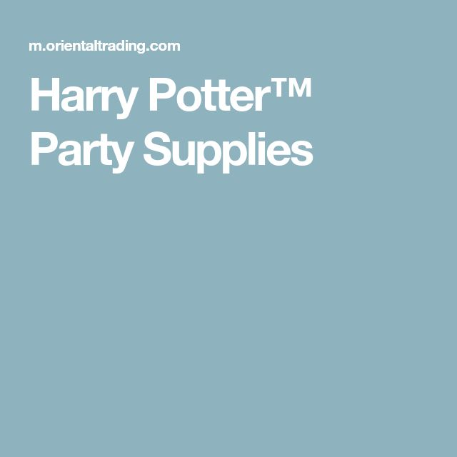 Harry Potter™ Party Supplies