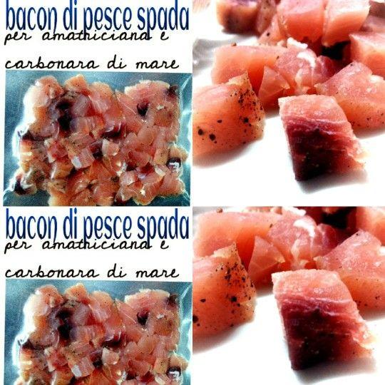 Bacon di pesce spada per carbonara e amatriciana di mare Offishina un nuovo mondo in cucina! #salumidipesce #offishina #pesce #salumidimare #salumeriaitticadipuglia #insaccatidipesce #rubio