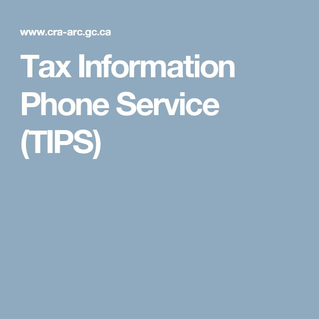 Tax Information Phone Service (TIPS)