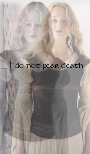 Eowyn, The Lord of the Rings, Neth Ohtar Edit... Could Adra say this? She is 3000 years old...