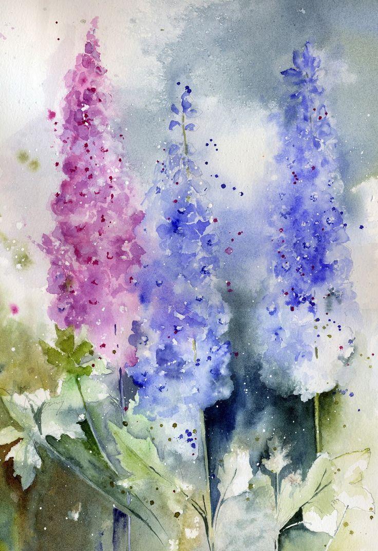 цветы акварелью картинки для начинающих свои