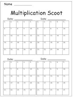 Adventures of Ms. Smith: Multiplication Scoot (Freebie!)