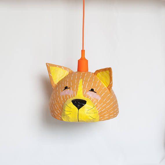 Cat Lamp  Kids Lamp  Cat Nursery Decor  Nursery Lighting