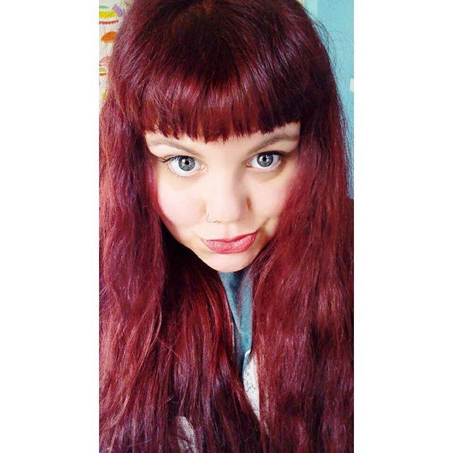 So I got bored!  New hair, again! 💟  #newhair #redhair #selfie #newhairidontcare