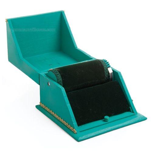 Manos Maravillosas Mini mundillo en caja personalizado abierta