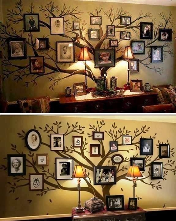 Love this picture wall.  This would look great in the entry way or foyer over a sofa table!