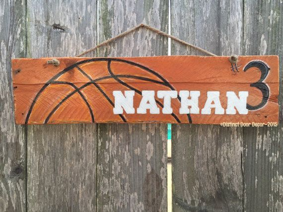 Pallet Wood Basketball Door/Wall Hanger