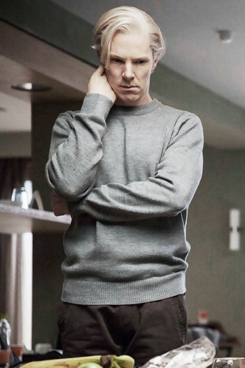 Benedict Cumberbatch as Julian Assange in 'The Fifth Estate'  I really don't want to love this but I do.