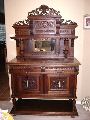 Antique Ornate Buffet Sideboard 1800 S Buffet With
