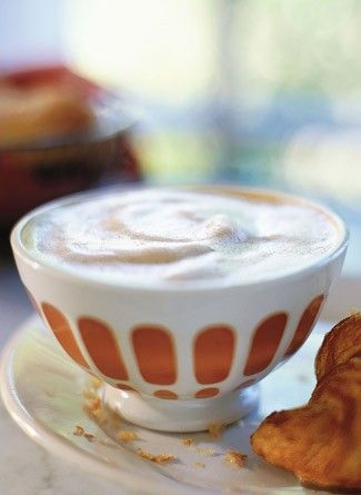 Cafe au Lait is prepared with strong hot coffee and scalded milk. It's the national breakfast drink and who knew it's served in large wide bowls