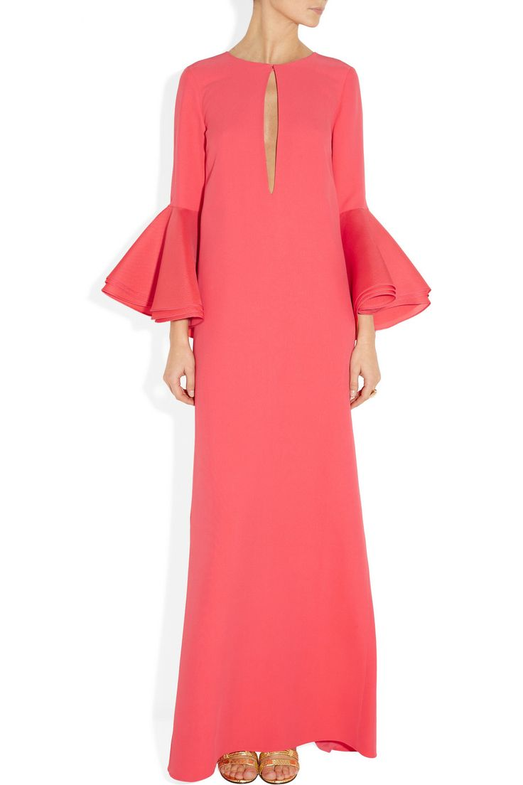 Gucci | Silk-cady and silk-broadcloth gown | NET-A-PORTER.COM