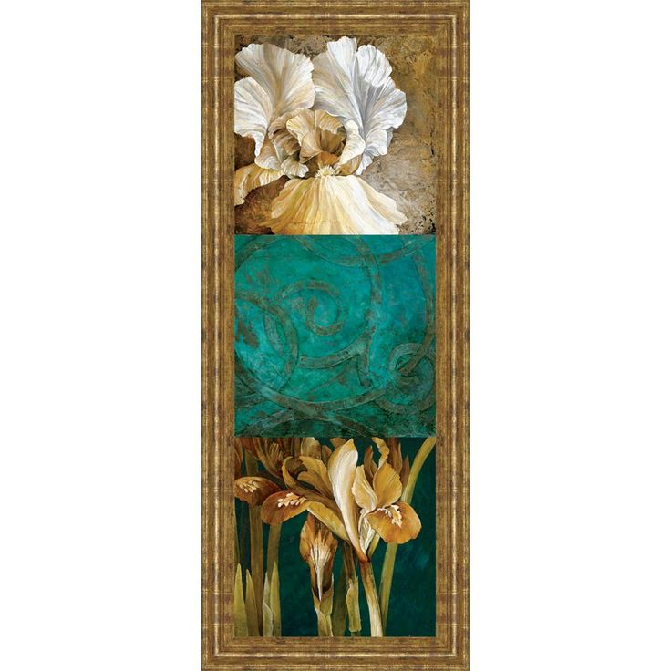 """18 in. x 42 in. """"From My Garden II"""" by Linda Thompson Framed Printed Wall Art"""