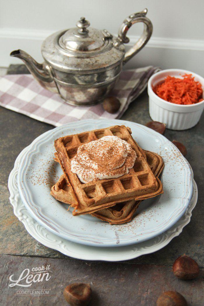 Gofry kasztanowo-marchewkowe