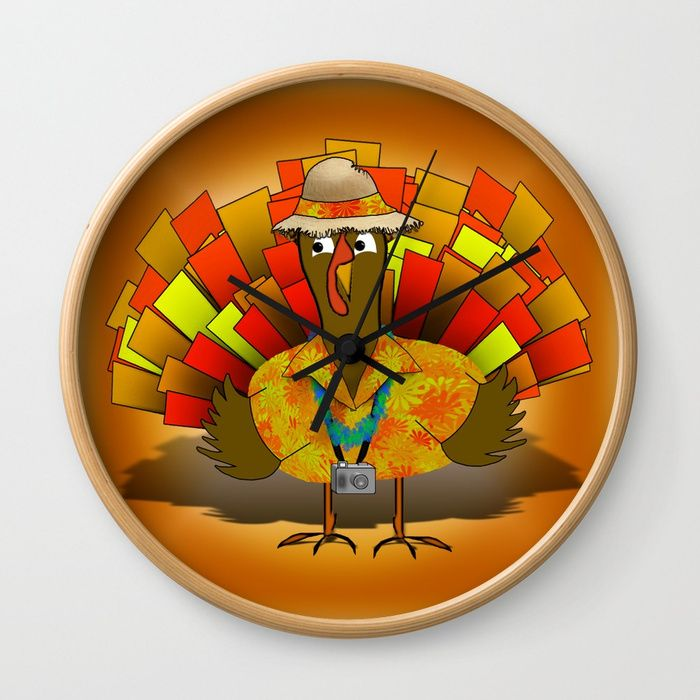 * Vacation Turkey Illustration Wall Clock by Gravityx9 at ...