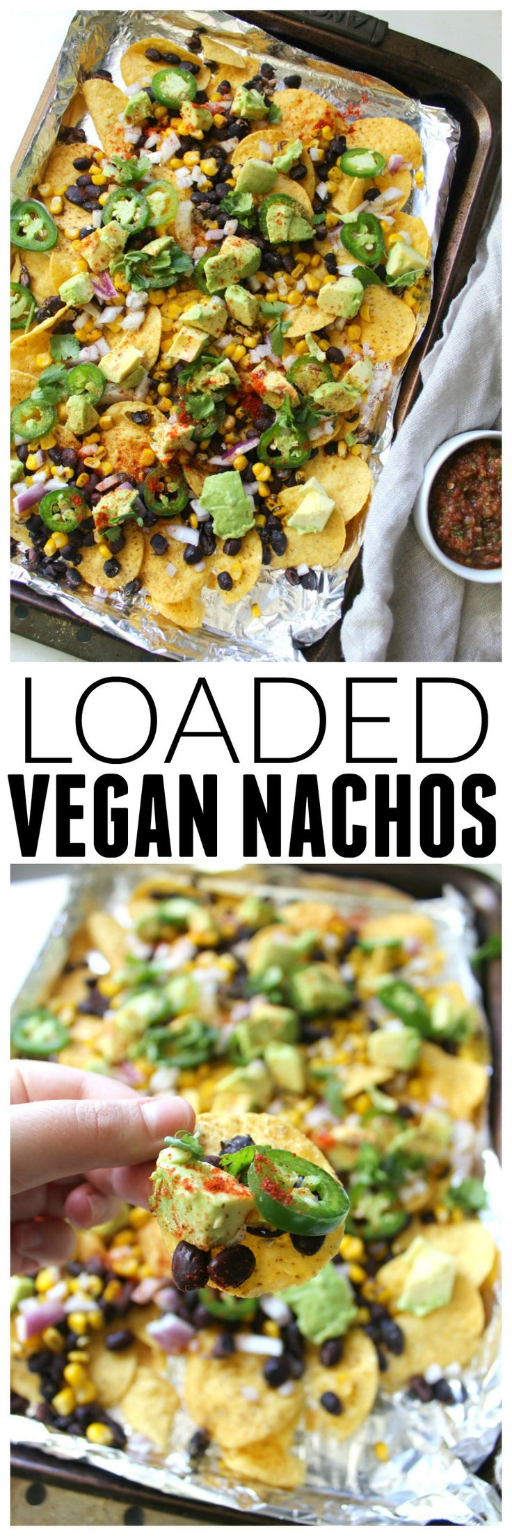 These Loaded Vegan Nachos are packed with healthy ingredients and are the perfect snack to share on game day   ThisSavoryVegan.com