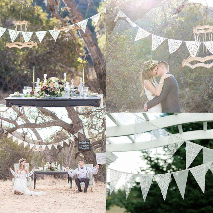 Goedkope 3 Stijl Europese en Amerikaanse bruiloft decoratie witte kant…