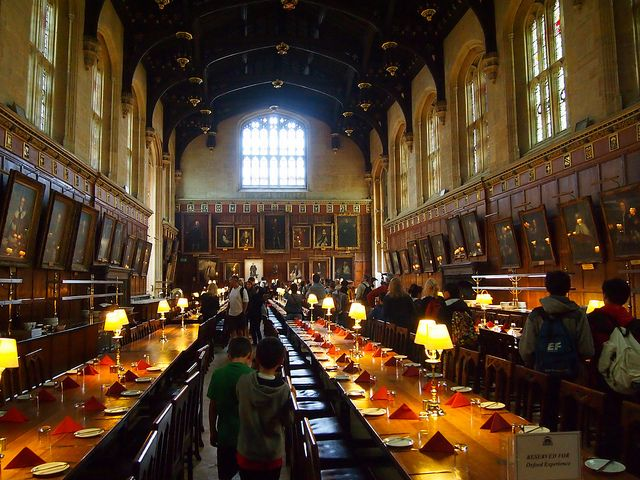 The dining hall at Christ Church College at Oxford University - the inspiration for the Great Hall at Hogwarts.