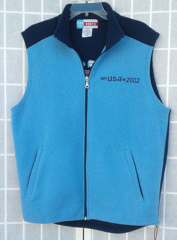 Olympics 2002 USA Team  #USA #Olympics http://www.ebay.com/itm/Olympics-2002-USA-Team-Roots-Fleece-Vest-Medium-Blue-/152567350219?ssPageName=STRK:MESE:IT