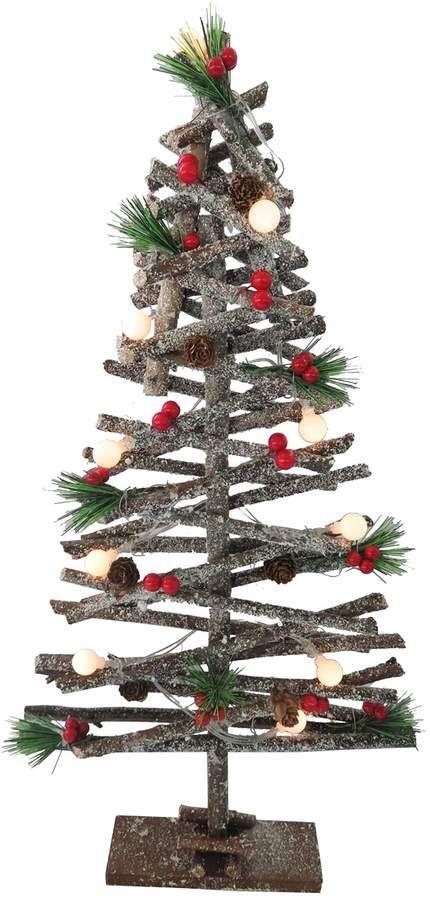 national tree company light up artificial wood tree christmas decor