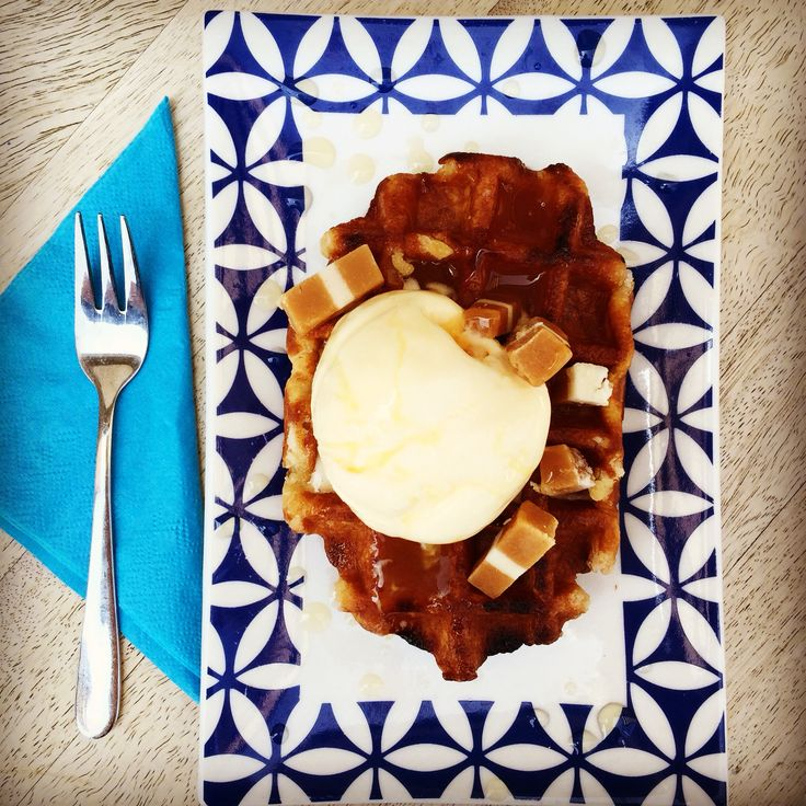 Delicious waffles at our espresso bar the Park Bench