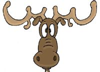 this artist depicts mooses have differently shaped antlers this image shows a mooses antlers resemmble deers antlers