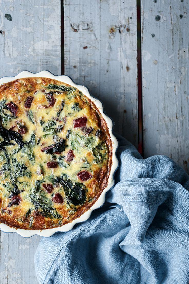 Swiss chard and tuna quiche - Quiche de verduras y bonito - Because blog