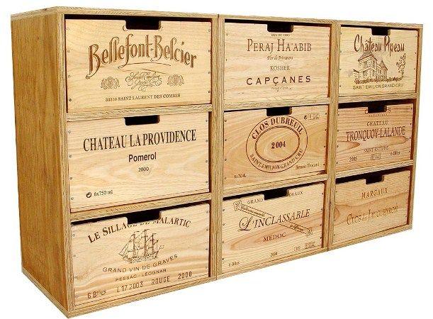 grand cube Sideboard - Möbel aus recycelten Weinkisten