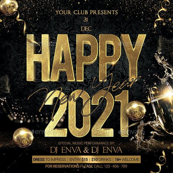 2021 New Year Flyer New Year Wishes Images Concert Poster Design