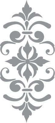 Glass etching stencil of Fleur de Lis. In category: Fleur de Lis