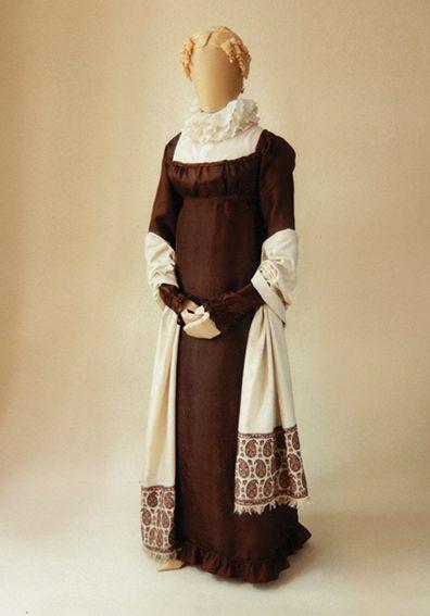 Silk Gown of sarcenet circa 1812.