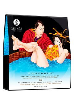 OCEAN TEMPTATIONS LOVEBATH by Shunga - Inspired by the sensual ritual of Japanese Love Baths where erotism is promoted, SHUNGA is offering today's lovers a pause in time to enjoy a unique bath experience.