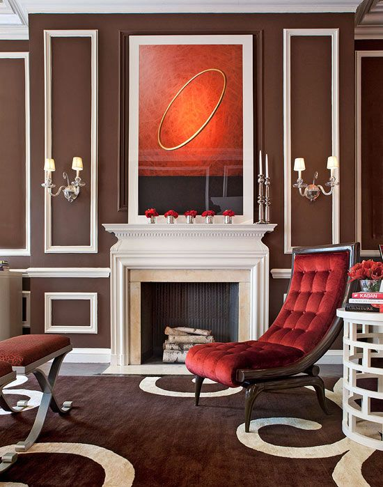 Showhouse Rooms with Red Accents - Traditional Home