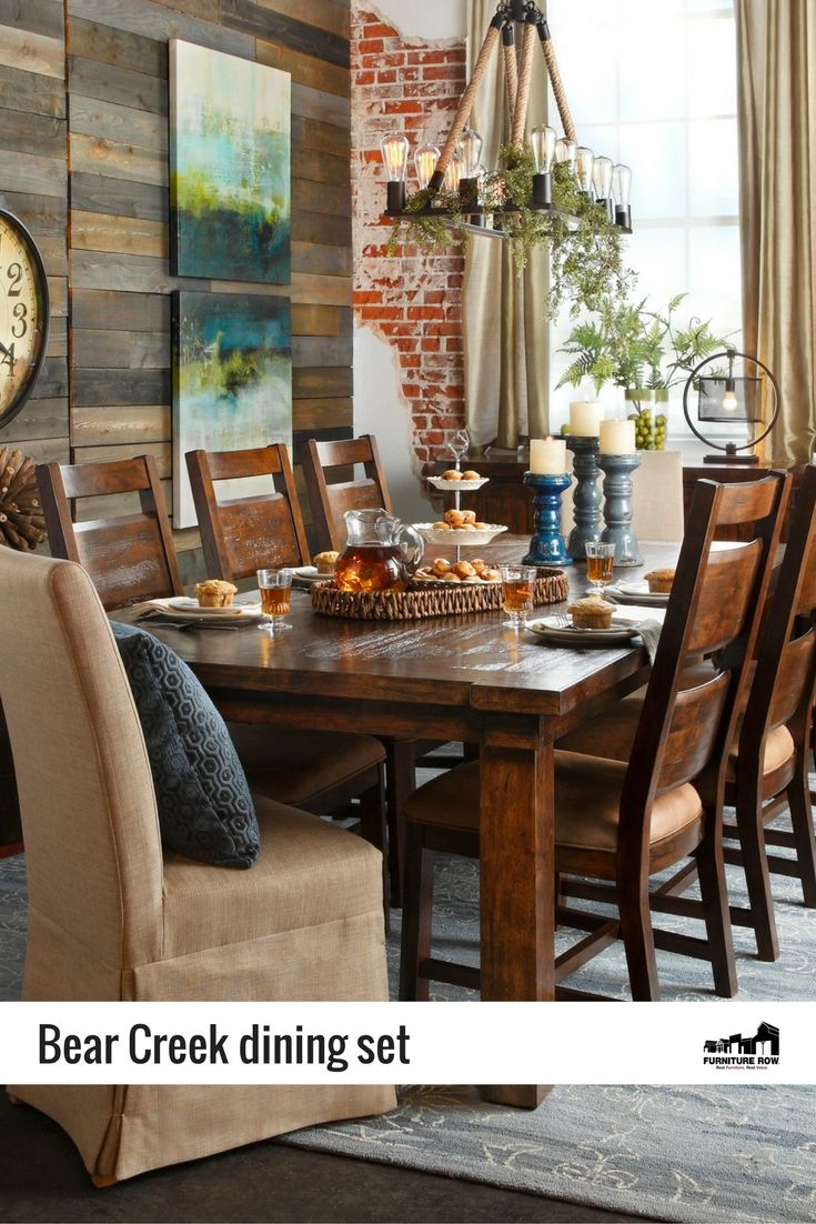 ... Furniture Row Bear Creek Dining Set Woodsy And Refined Style For Your  Dining Area ...