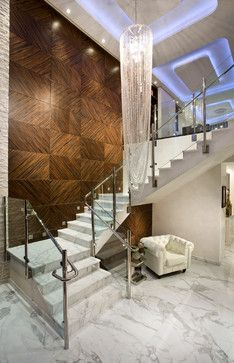 Pfuner Design, Interior Design at Jade Ocean, PH contemporary-staircase... The chandelier!!!