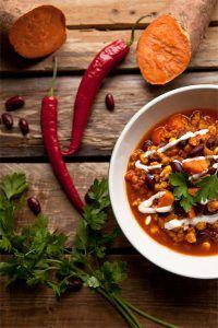 Süßkartoffel chili sin carne rezept-vegan