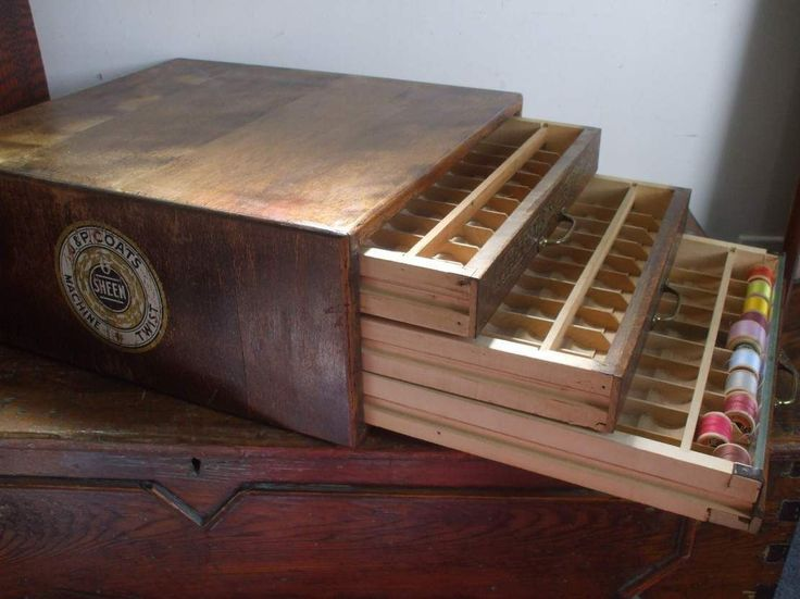 Antique J P Coats Sewing Spool Cabinet   EBay