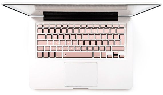 Rose gold ombre Macbook Decal Keyboard Sticker for Macbook Mac Lenovo Stickers Asus Sony Acer Dell HP Samsung Toshiba Pinky #Rose gold ombre