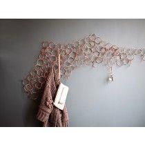 #Camouflage wall hanger 100 ringe #coppper #kobber #knagerække #umlaute
