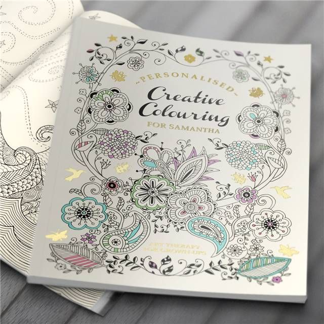Personalised Creative Colouring for Grown-ups Relax and unwind with this anti-stress art therapy A4 sized Available in Hardback or Softback Your